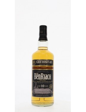 WHISKY BENRIACH 10 ANS CURIOSITAS PEATED MALT 46°   70CL